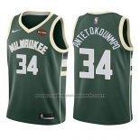 Maillot Enfant Milwaukee Bucks Giannis Antetokounmpo #34 Icon 2017-18 Vert