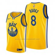 Maillot Golden State Warriors Alec Burks #8 Statement The Bay Or