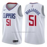 Maillot Los Angeles Clippers Boban Marjanovic #51 Association 2017-18 Blanc