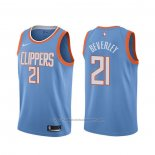 Maillot Los Angeles Clippers Patrick Beverley #21 Ville Bleu