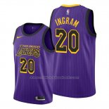 Maillot Los Angeles Lakers Andre Ingram #20 Ville Volet