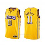 Maillot Los Angeles Lakers Avery Bradley #11 Ville 2019-20 Jaune