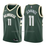 Maillot Milwaukee Bucks Brandon Jennings #11 Icon 2017-18 Vert