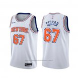 Maillot New York Knicks Taj Gibson #67 Statement Blanc