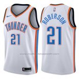 Maillot Oklahoma City Thunder Andre Roberson #21 Swingman Association 2017-18 Blanc