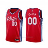 Maillot Philadelphia 76ers Personnalise Statement 2019-20 Rouge
