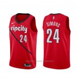 Maillot Portland Trail Blazers Anfernee Simons #24 Earned Rouge