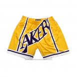 Short Los Angeles Lakers Mitchell & Ness Big Face Jaune