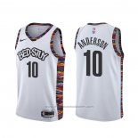 Maillot Brooklyn Nets Justin Anderson #10 Ville Blanc