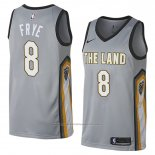 Maillot Cleveland Cavaliers Channing Frye #8 Ville 2018 Gris