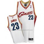 Maillot Cleveland Cavaliers LeBron James #23 Retro Blanc