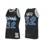 Maillot Orlando Magic Shaquille O'neal #32 Hardwood Classics Authentique 1994 Noir