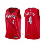 Maillot Portland Trail Blazers Maurice Harkless #4 Earned Rouge