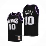 Maillot Sacramento Kings Mike Bibby #10 Mitchell & Ness 2001-02 Noir
