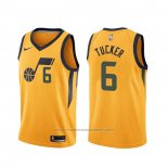 Maillot Utah Jazz Rayjon Tucker #6 Statement Edition Jaune